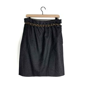 Chloe NWOT Chain Embellished Wool Skirt